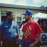 Афроамериканец и А.Левинский (справа)