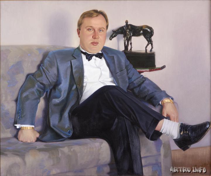 И.М.Сушенок.  Портрет Олега Розанова. Холст, масло. 1998